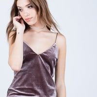 All About Velvet Cami