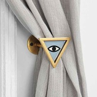 Magical Thinking Triangle-Eye Curtain Tie-Back- Blue One