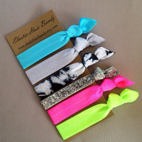The Cassy Hair Tie Collection - 6 Elastic Hair Ties by Elastic Hair Bandz on Etsy