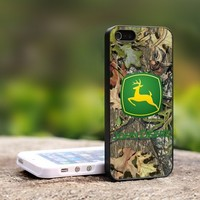 JOhn deere cemo - For iPhone 4,4S Black Case Cover