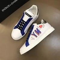 D&G  Men Fashion Boots fashionable Casual leather Breathable Sneakers Running Shoes0502ff