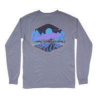Limited Edition Night Train Long Sleeve Tee in Granite by Waters Bluff