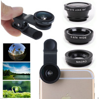 3 in 1 Fish Eye Wide Angle Macro Telephoto Lens Camera
