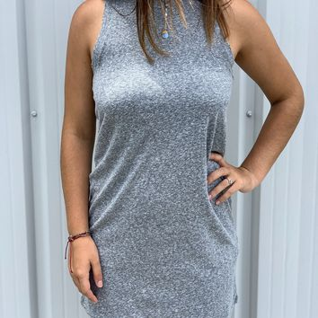 Z Supply Triblend Muscle Dress in Heather Grey