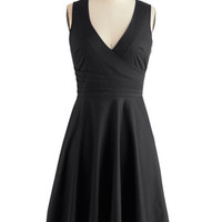 ModCloth LBD Sleeveless A-line Beguiling Beauty Dress in Black