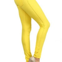 Colored Jeggings - Yellow
