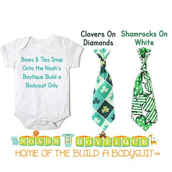 St. Patrick's Day Snap On Ties and Bow Ties by Noah's Boytique
