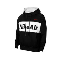 NIke Men's Air Colorblock Black And Red Fleece Hoodie