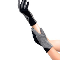 Sure Fit Grey & Black Two Tone Wrist Length Texting Gloves