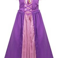 Disney Store Tangled Rapunzel Nightgown Pajamas Size 5/6