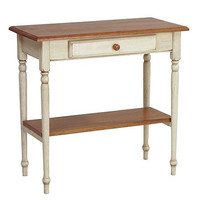 """Country Style Foyer Table (Antique White) (28.75""""H x 15""""W x 30""""D)"""