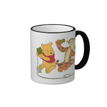 Winnie the Poohs Tigger and Pooh playing Telephone Ringer Coffee Mug