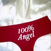 SWEET LORD O'MIGHTY! 100% ANGEL PANTY IN RED