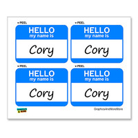 Cory Hello My Name Is - Sheet of 4 Stickers