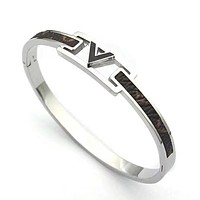 Louis Vuitton LV New Fashion Women Men Bracelet Accessories Silver