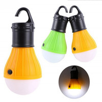 Portable outdoor camping Hanging 3-LED Camping Lantern,Soft tent Fishing lights LED Camp Lights Bulb Lamp Hot