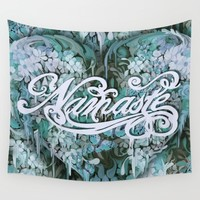Namaste in Blue Wall Tapestry by Kristy Patterson Design