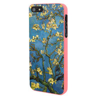Almond Branches In Bloom By Vincent Van Gogh iPhone 5 Case Framed Pink