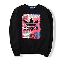 Adidas Women Fashion Top Sweater Pullover Sweatshirt-11