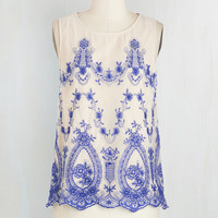 Mid-length Sleeveless First Day Fab Top by ModCloth