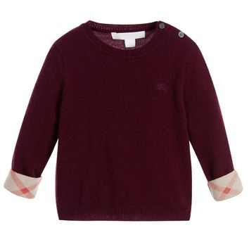 Baby Boys Burgundy Cashmere Sweater