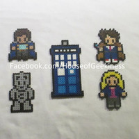 DIY Kit - Doctor Who Inspired 10 and Rose Bead Sprite Magnets, Wall Decor, or Ornaments