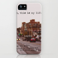 perks of being a wallflower - happy + sad iPhone Case by lissalaine | Society6