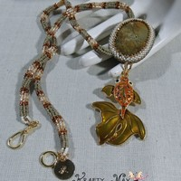 Prima Blog Team Beadwoven Gold Fish Necklace - Krafty Max