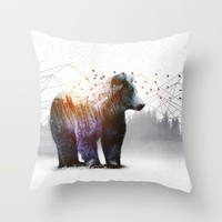 A Wilderness Within / Bear Throw Pillow by Soaring Anchor Designs | Society6