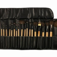 24-pcs Make-up Brush Pink Black Make-up Tools Make-up Brush Set [6048692225]