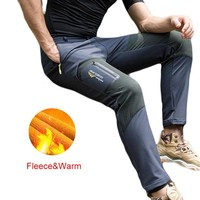 2018 Winter New Fleece softshell pants Men warm Hiking Pants Outdoor Trousers for Camping Ski Climbing