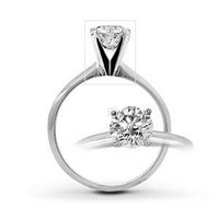 Diamond Promise Ring 1/5 ct tw Black/White Sterling Silver