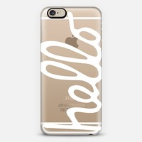 Hello - white iPhone 6 case by Sarah Jane Design | Casetify