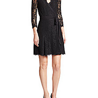 Diane von Furstenberg - Julita Lace Wrap dress - Saks Fifth Avenue Mobile