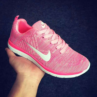 """""""NIKE"""" Trending Fashion Casual Sports Shoes PINK"""