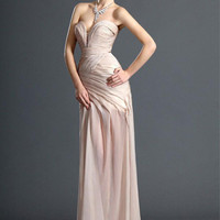 Fascinating Pearl Pink Sweetheart Neckline Sweep Train Chiffon Prom Dress from SinoAnt