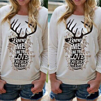 Hot Popular Floral Printed Women Casual Sports Hoodies Top _ 10252