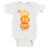 1st Halloween with Custom Name Gerber Onesuit ®