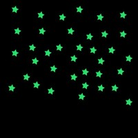 100PC Kids Children Bedroom Beautiful Fluorescent Glow In The Dark Stars Wall Stickers Blue Living Room Wall Quotes Wallpaper