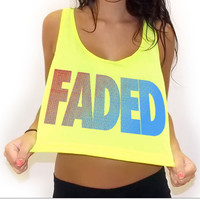 Faded Crop Tank Top