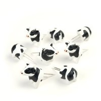 Charcoal Companion Cow Corn Holders, 4 pairs