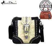 Montana West MW142G-8295 Buckle Concealed Carry Messenger Bag
