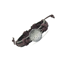 Rope Style Bracelet w/ Motivational Charm Genuine Leather - 4 Color Variations