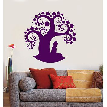 Vinyl Wall Decal Bodhi Tree Buddhism Asian Religion Buddha Stickers (3549ig)