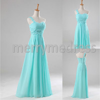 Beads One-shoulder Strapless Long Celebrity Dress,Floor Length Chiffon Evening Party Prom Dress New Homecoming Dress