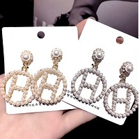 Hermes Women Fashion New More Pearl Round Long Earring Accessories