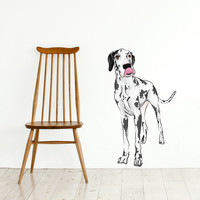 Spotted Great Dane Printed Wall Decal