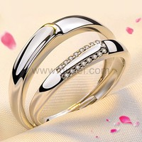 Engraved Silver Wedding Adjustable Rings that Look Alike