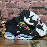 Kids Air Jordan 6 Black Colorful Sneaker Shoe Size Us 11c 3y | Best Deal Online