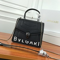 BVLGARI WOMEN'S LEATHER Serpenti Forever HANDBAG INCLINED SHOULDER BAG